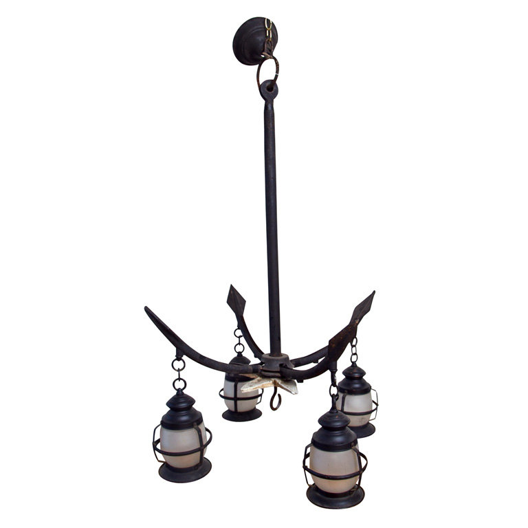 Talk about going with a theme: this Nautical Chandelier With Lanterns ($2,850) would look over the top inside a home, but we can see it working in an outdoor patio space, hanging from a pergola and surrounded by trees and climbing vines.