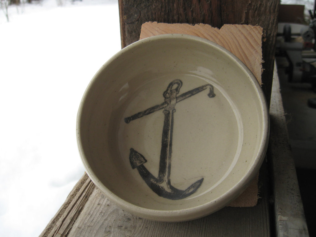 Set the table with a handsome Anchor Bowl ($25).