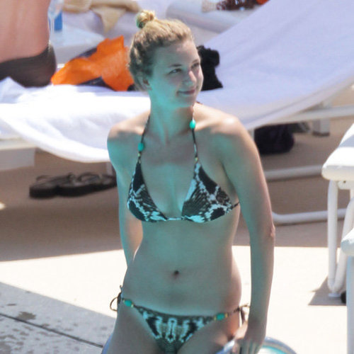 Emily VanCamp Printed Triangle Bikini