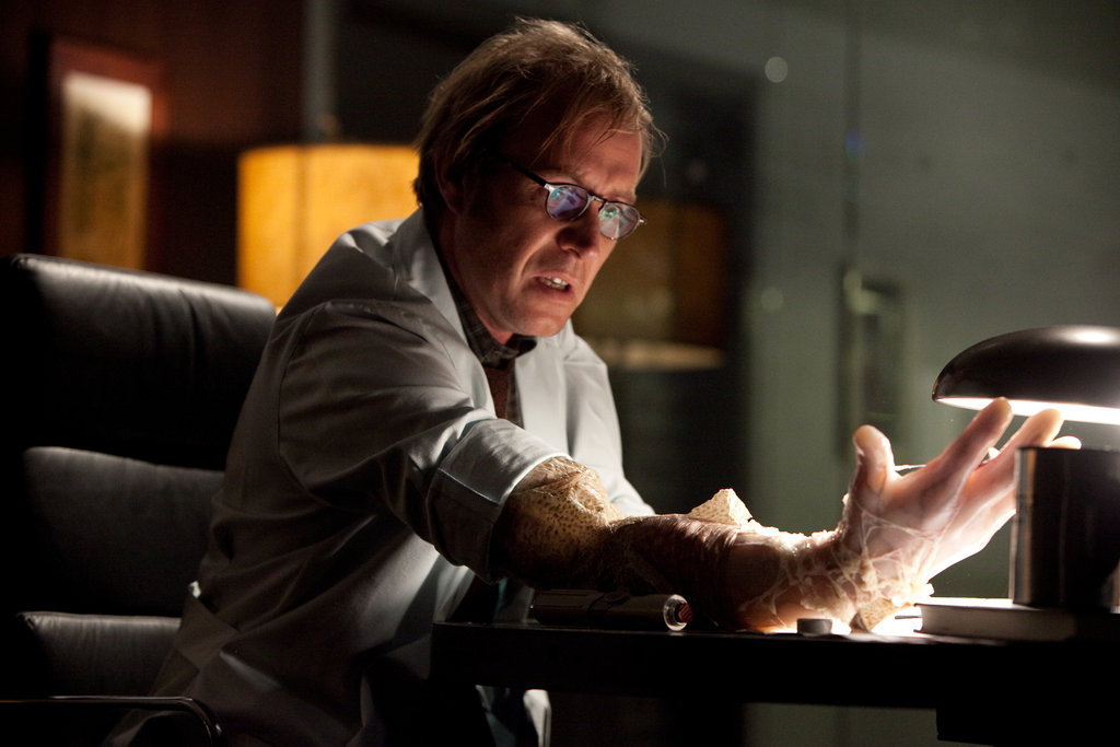 Rhys Ifans in The Amazing Spider-Man.  Photo courtesy of Sony