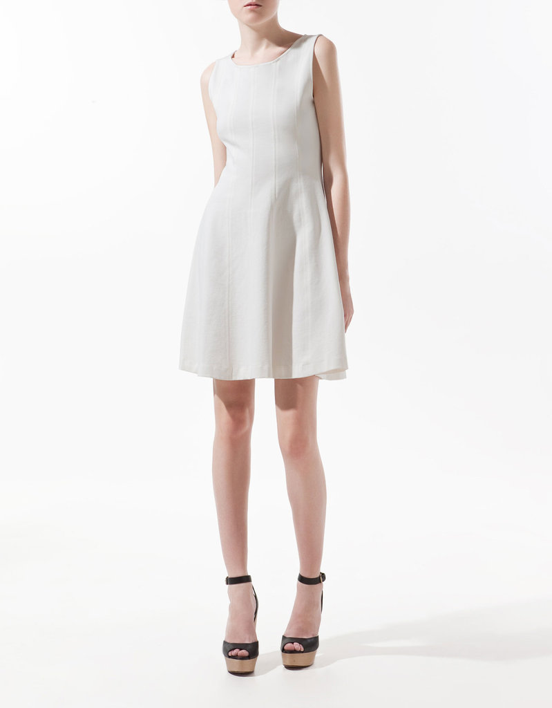 This LWD is a no-brainer. Not only does it have a body-flattering silhouette, but its not-too-short length and not-too-revealing neckline make it a perfect candidate to style up for the office or any event.  Zara Seamed Dress With Flared Skirt ($60)