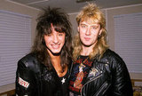 Richie Sambora of Bon Jovi and Joe Elliot of Def Leppard, 1989