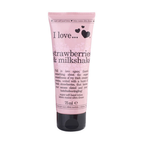 I Love... Strawberries & Milkshake Super Soft Hand Lotion, $7.95
