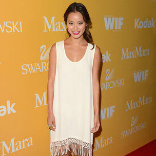 Jamie Chung White Fringe Dress