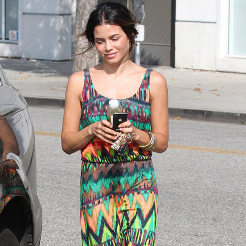 Jenna Dewan Colorful Tribal Maxi Dress