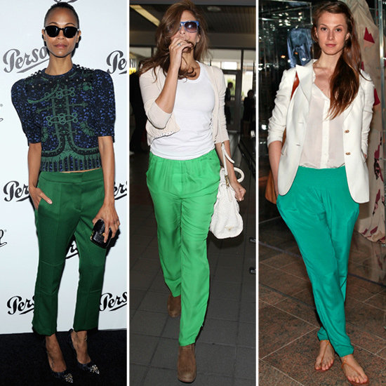 Celebrities Are Feeling Green Pants — Get in on the Trend, Too