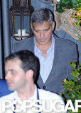 George Clooney looked handsome as always as she exited a restaurant in Lake Como.