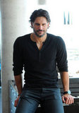 Joe Manganiello posed for photos during a press junket for Magic Mike in Toronto.