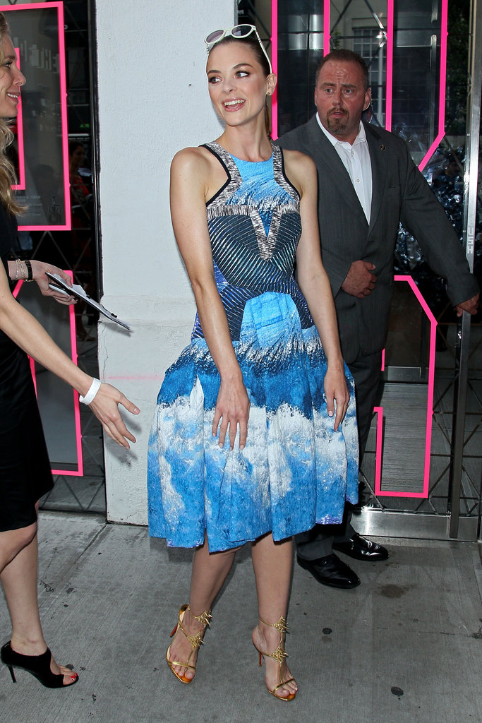 Jaime King arrived at the Persol Magnificent Obsessions event in NYC in Peter Pilotto.