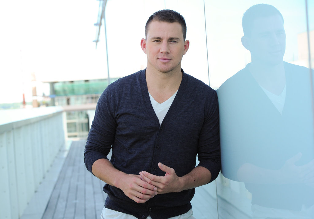 Channing Tatum posed for a portrait at the Thompson Hotel in Toronto during a Magic Mike press junket.