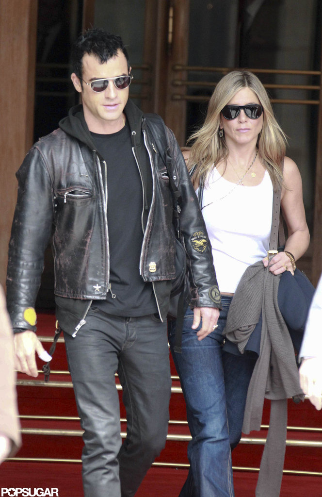Jennifer Aniston and Justin Theroux in Paris.