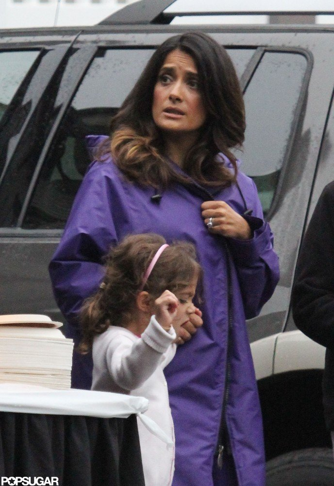 Salma Hayek and daughter Valentina Pinault were together on the Boston set of Grown Ups 2.
