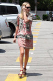 Kate Bosworth wore a summery dress while running errands in LA.