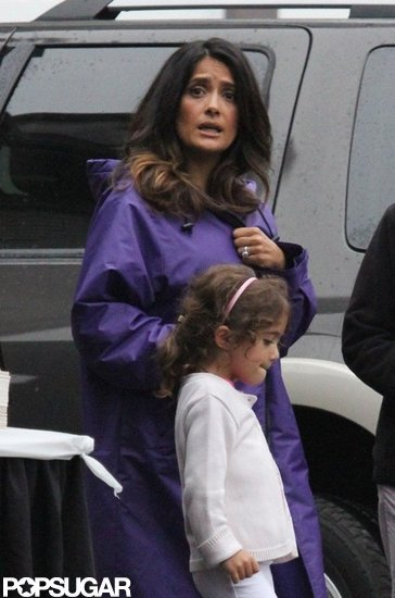 Salma Hayek and daughter Valentina Pinault were in Boston together.