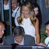 George Clooney and Stacy Keibler Lake Como Dinner Pictures
