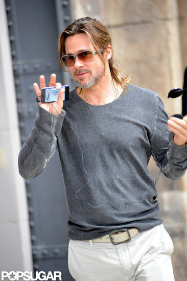 Brad Pitt Takes a Private Art Tour in Germany