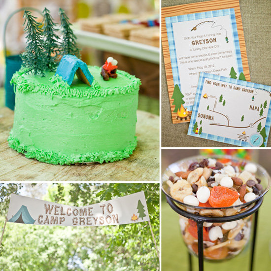 Greyson's Cute, Camping-Inspired First Birthday Party
