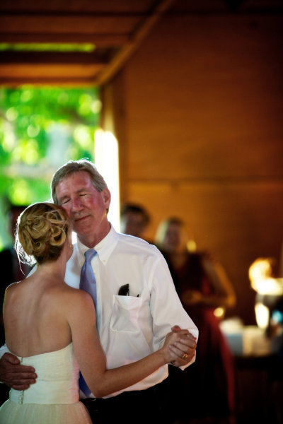 Dad soaked it all up during the father/daughter dance. Photo by Jason+Gina Wedding Photographers via Style Me Pretty