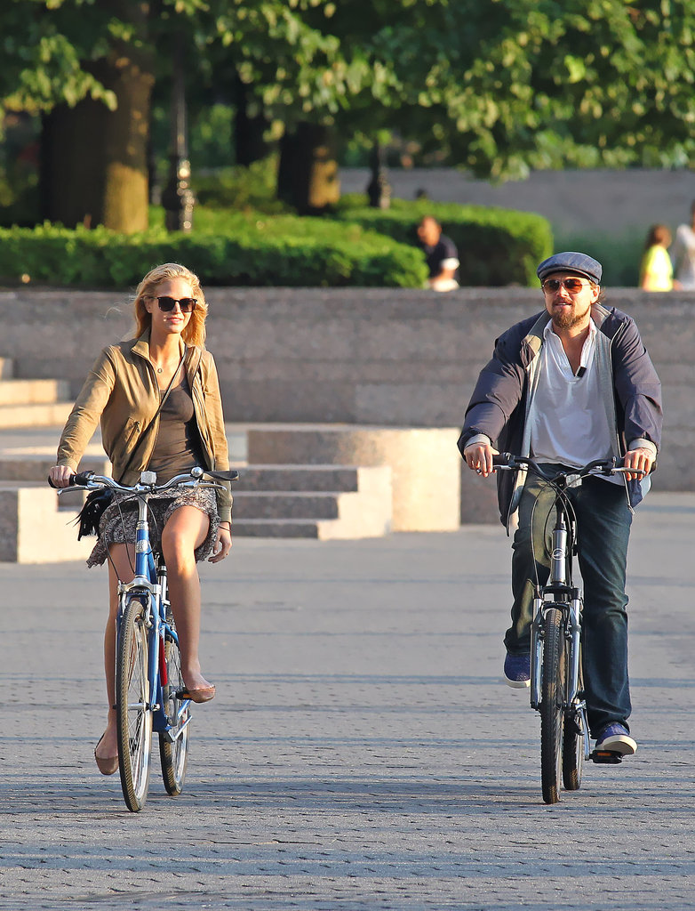 Leonardo DiCaprio and Erin Heatherton biked together in NYC.