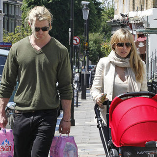 Chris Hemsworth Elsa Pataky Pictures in London With India