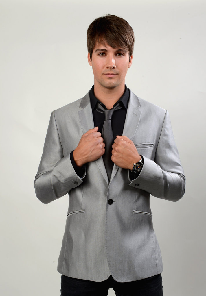 James Maslow looked dapper backstage.