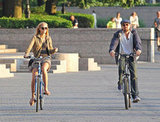 Leonardo DiCaprio and girlfriend Erin Heatherton biked together.