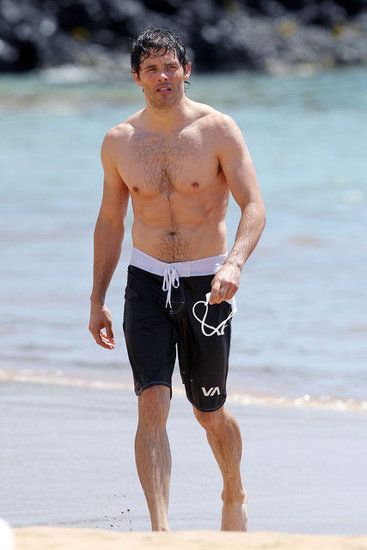 James Marsden Goes Shirtless For a Dip in Hawaii