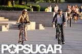 Leonardo DiCaprio and his Victoria's Secret Angel girlfriend, Erin Heatherton, biked.