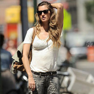 Gisele Bundchen Eating Ice Cream Cone in NYC Pictures