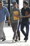 Zac Efron had a script under his arm after attending a meeting in LA.