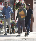 Zac Efron carried a script out of a meeting in LA.