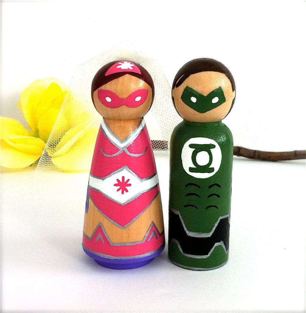 Green Lantern and His Bride Cake Toppers ($65)