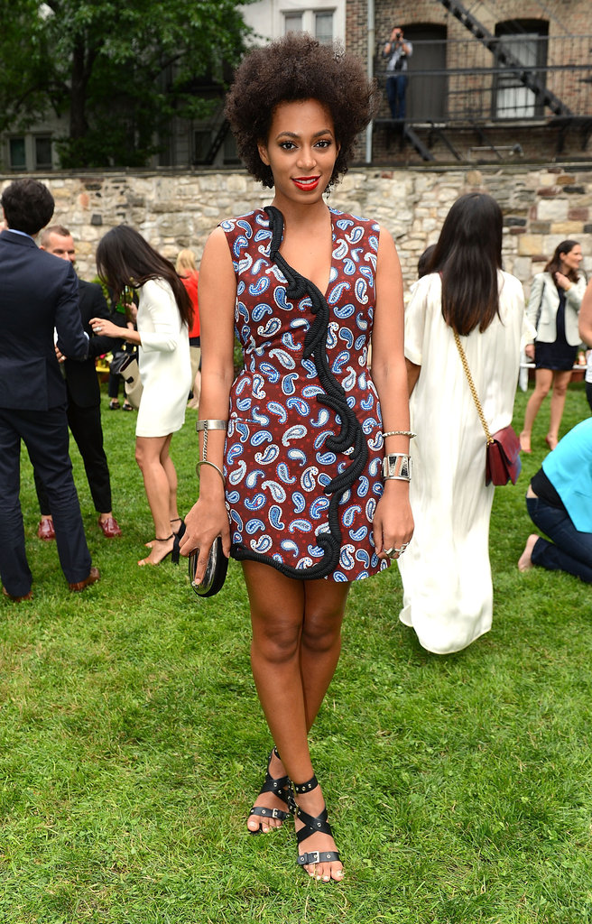 Solange Knowles's quirky-cool Stella McCartney was right on par for playful partywear.