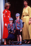 In September 1989, Princess Diana took Prince William and Prince Harry to Wetherby School in London. It was Prince Harry's first day.