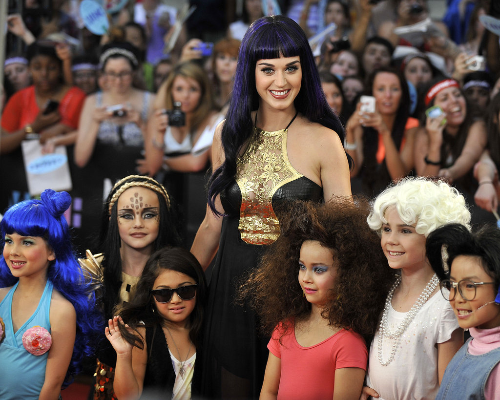Katy Perry arrived with her little fans at the MuchMusic Video Awards in Toronto.