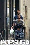 Natalie Portman pushed her son, Aleph, in Paris.