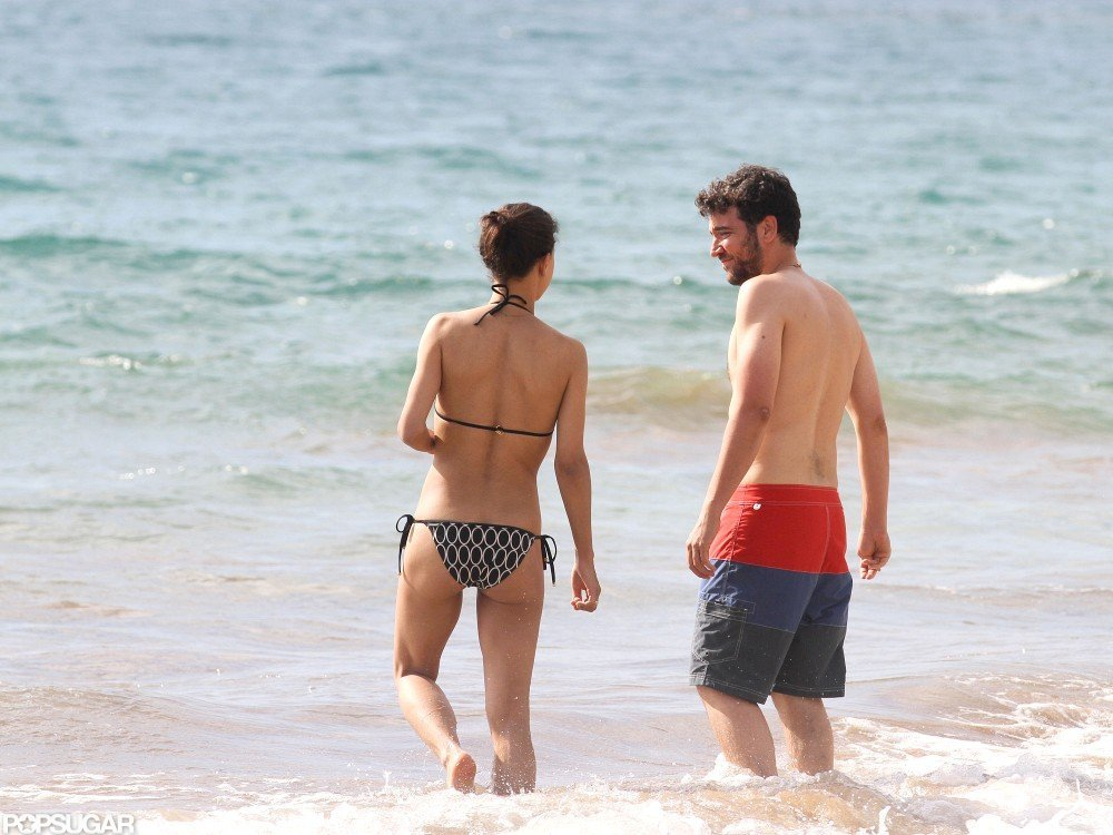 Josh Radnor was shirtless with girlfriend Julia Jones.