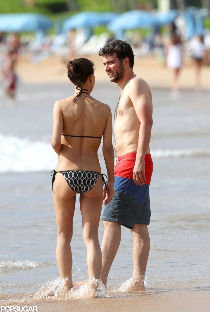 Josh Radnor was shirtless at the beach with Julia Jones.