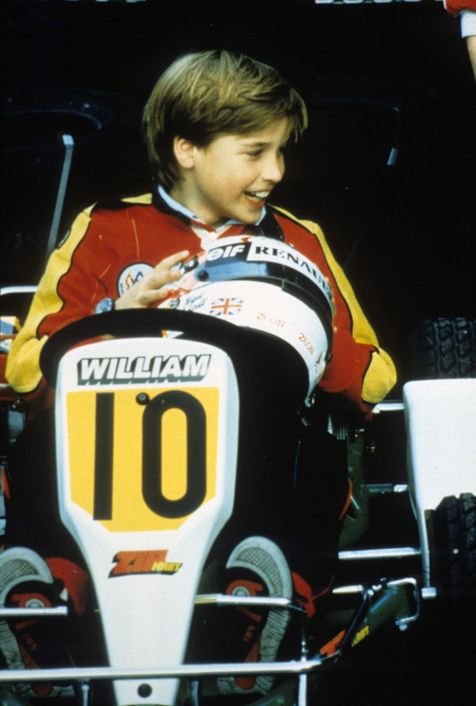 Prince William went go-karting in July 1988 in London.