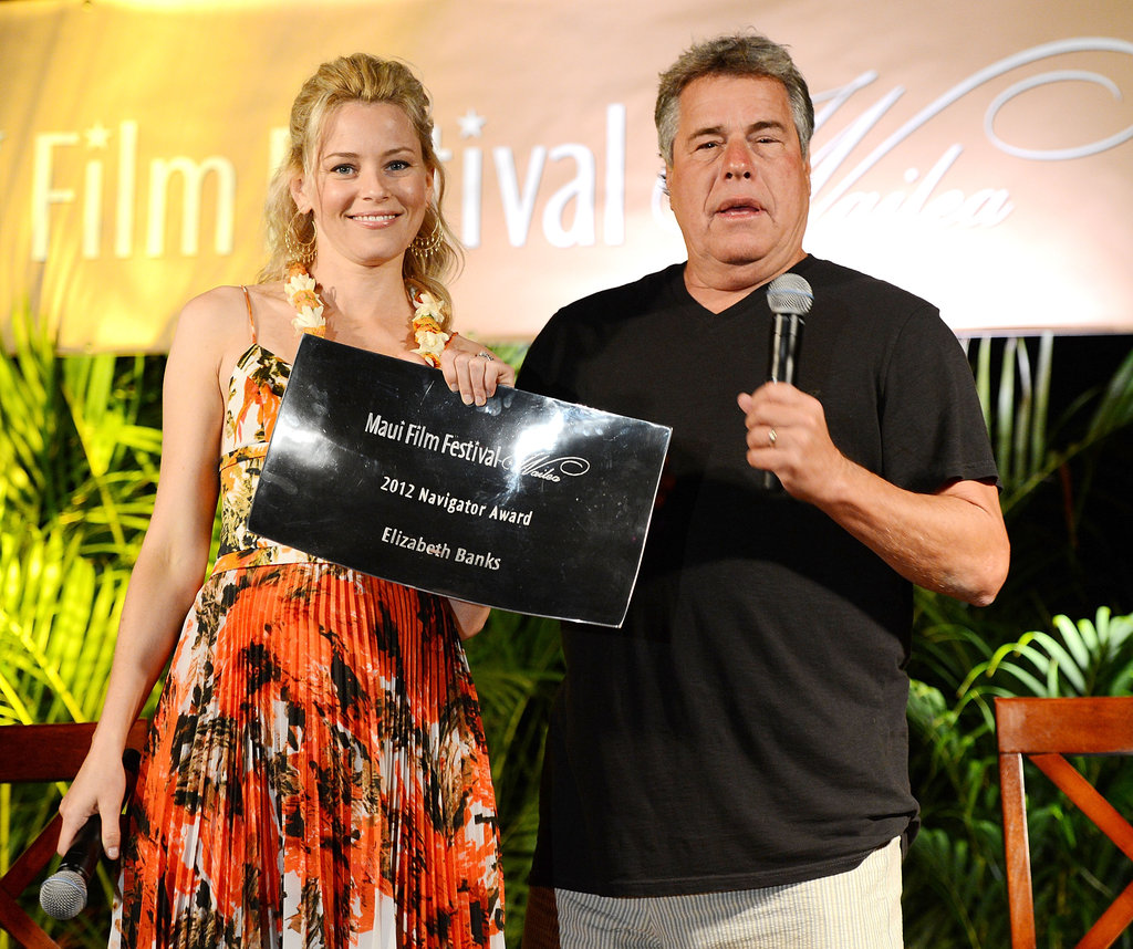 Elizabeth Banks was presented with the 2012 Navigator Award by film festival director Barry Rivers.