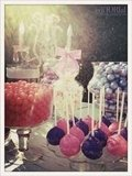 What's a party without a dessert table and cake pops? Edible glitter was a big hit!