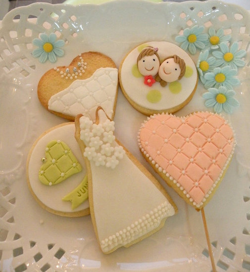 Wedding Cookies Decorated With Fondant