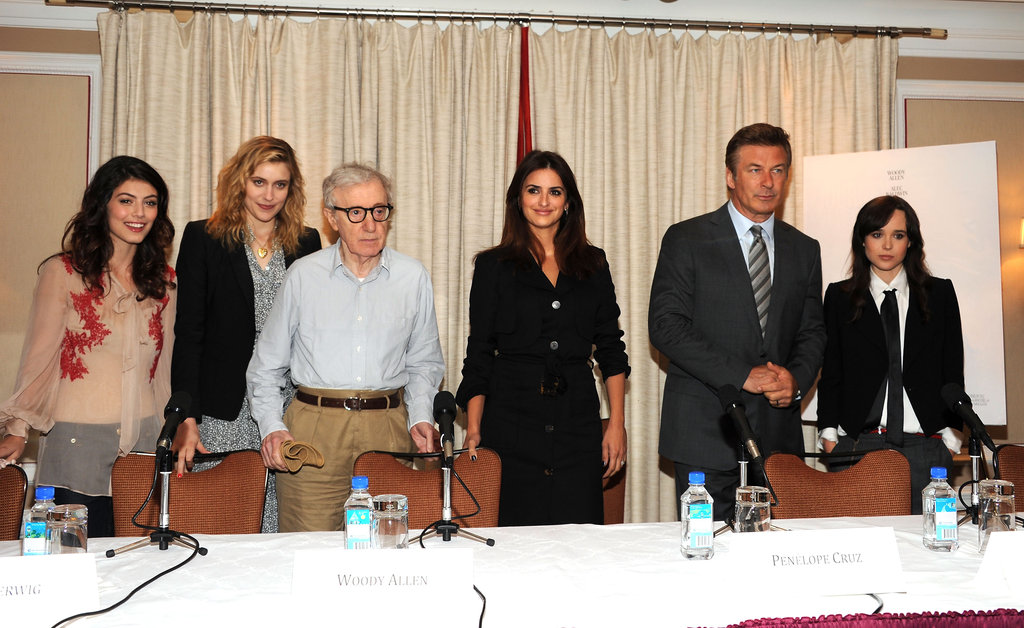 Alessandra Mastronardi, Greta Gerwig, Woody Allen, Penélope Cruz, Alec Baldwin, and Ellen Page attended a To Rome With Love press event in NYC.
