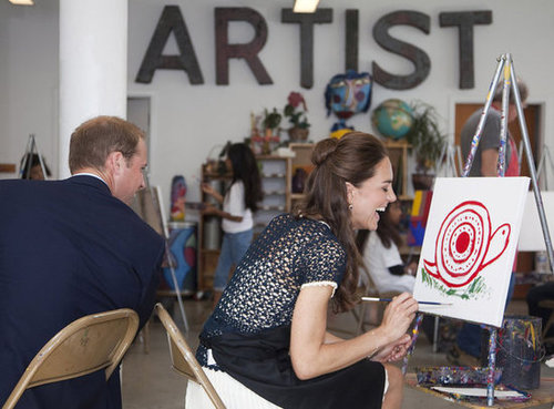 In July 2011, William and Kate visited an inner-city art program in LA and joked about each other's paintings.