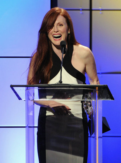 Julianne Moore accepted an award at the Critics' Choice Television Awards in LA.