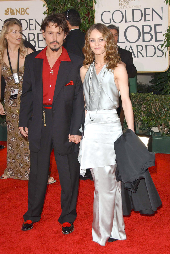 Johnny Depp and Vanessa Paradis attended the Golden Globes in January 2006.