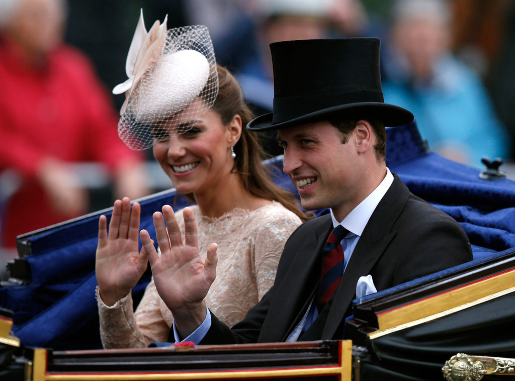 Kate Middleton and Prince William waved to fans as they left a Diamond Jubilee celebration in June, 2012.
