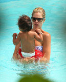 Doutzen Kroes swam with Phyllon James.