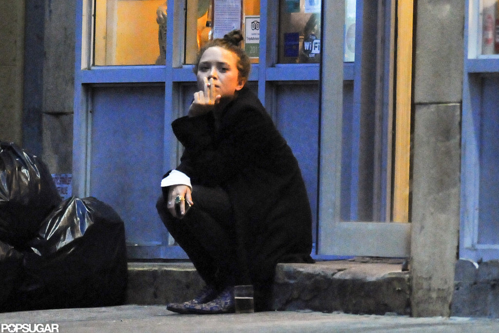 Mary-Kate Olsen smoked in NYC.