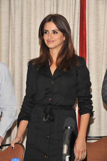 Penélope Cruz attended a To Rome With Love press event in NYC with Woody Allen.